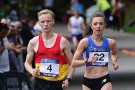 Callum Wilkinson and Erika Kelly race walkers image